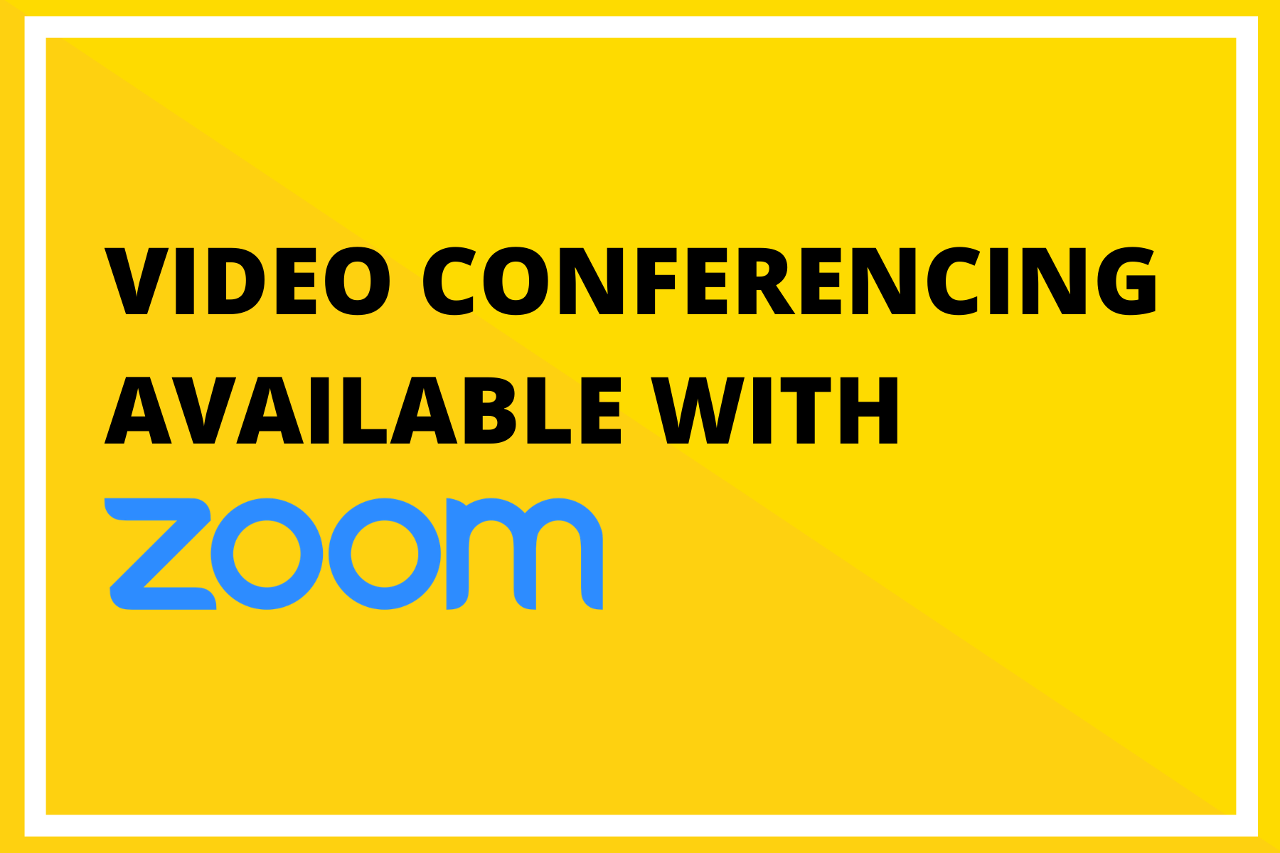 Video Conferencing and Teleconferencing Available via Zoom